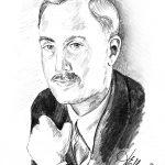 Das Bild von der Künstlerin Elisabeth Mack-Dronia zeigt den Markgraf Berthold von Baden in einer Bleistiftzeichnung.